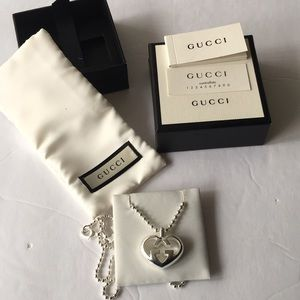 4653615db3 Gucci 925 Silver Necklace Premium Gift for Her Boutique